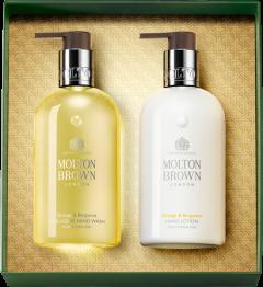 Molton Brown Orange & Bergamot Hand Collection Set = Fine Liquid Hand Wash 300 ml + Hand Lotion 300 ml